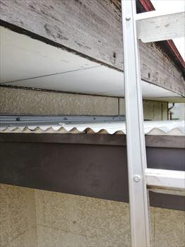雨漏り補修工事 ガルバリウム鋼板重ね貼り