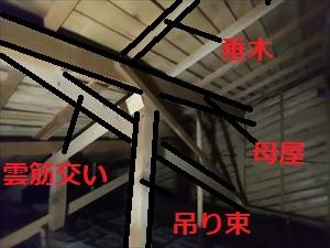 現地調査 屋根下地現状の様子