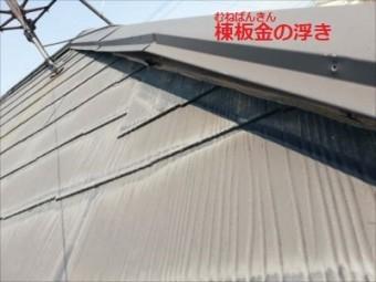 棟板金 浮き 台風被害 パタパタ