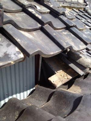 屋根取り合い部分 板金 張替作業完了
