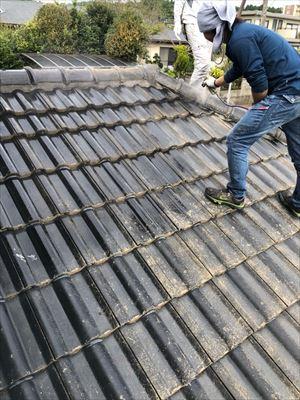 セメント瓦 屋根塗装 高圧洗浄