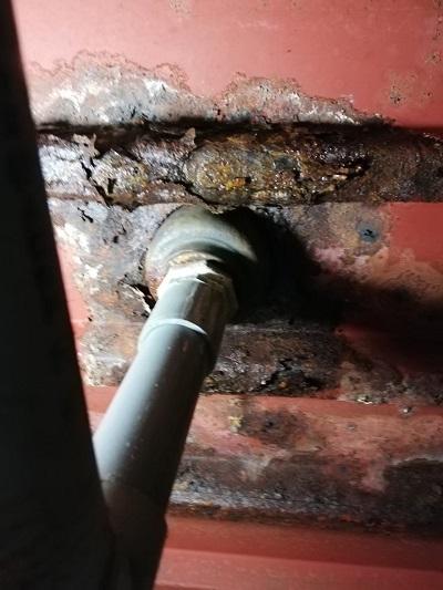 浴室下 天井 水漏れ 防水処理 不良