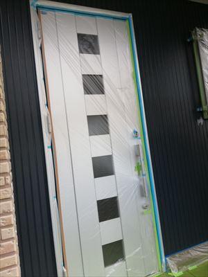 塗装工事 養生 玄関ドア
