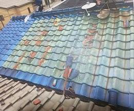 瓦 台風被害 工事前