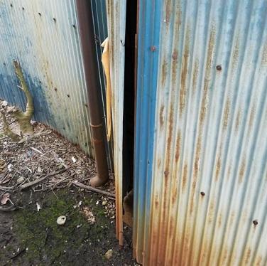トタン倉庫 隙間 壁 補修工事