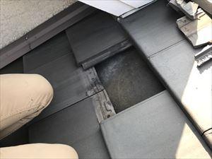 屋根 瓦割れ状況①