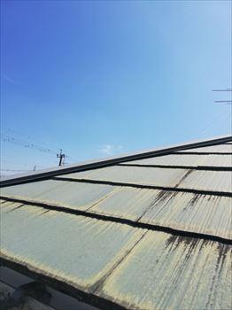 スレート屋根 塗装替え 現地調査