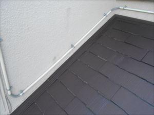雨漏り点検 下屋と壁の取り合い部分