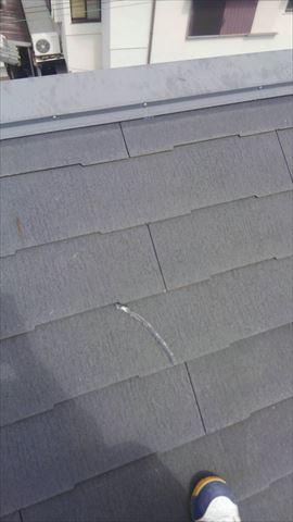 屋根材割れ コーキング補修